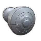 STAMINA 2x Plastic Dumbbell 3kg [ST-800-3S] - Silver - Barbell / Dumbbell
